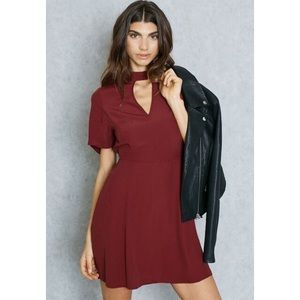 ASOS Miss Selfridge Choker Cut Out Dress